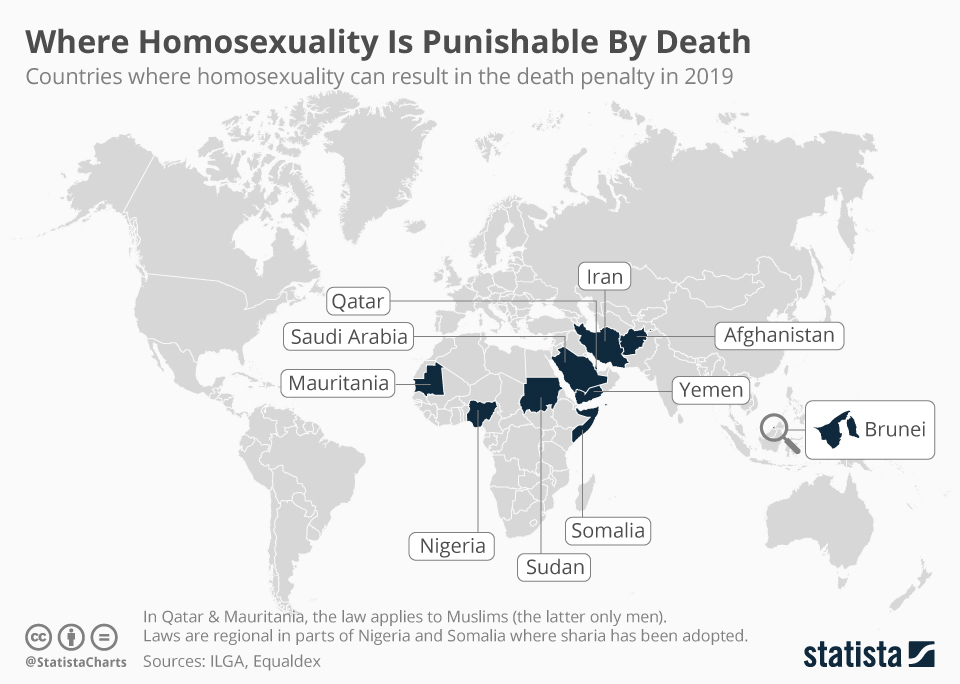 Infographic: Where Homosexuality Is Punishable By Death  | Statista